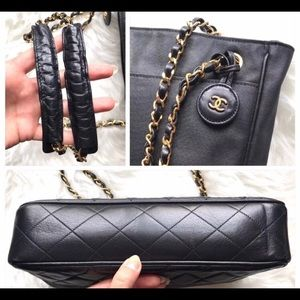 CHANEL Bags - Auth Chanel quilted lambskin charm leather handbag